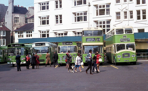 Southdown buses Pool Valley BTN c1970
